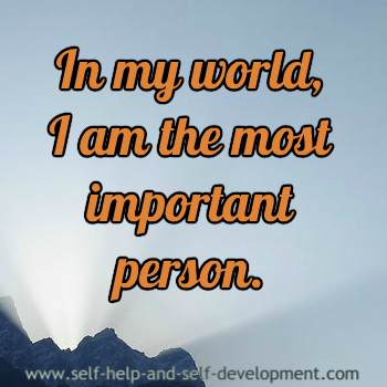 Positive inspiration for self importance.