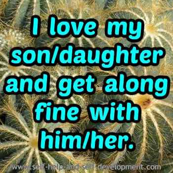 Self talk for loving your children.