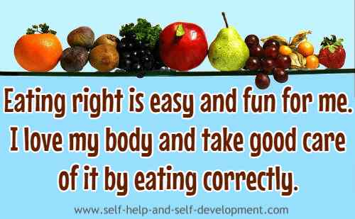 Self talk for eating correctly and taking care of the body.