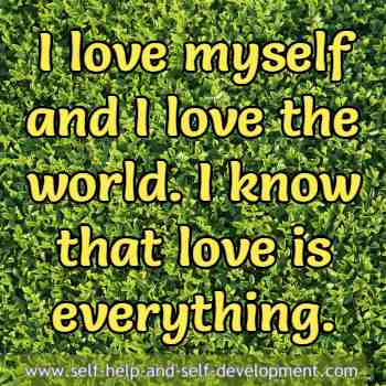 Self talk for loving self and the world.