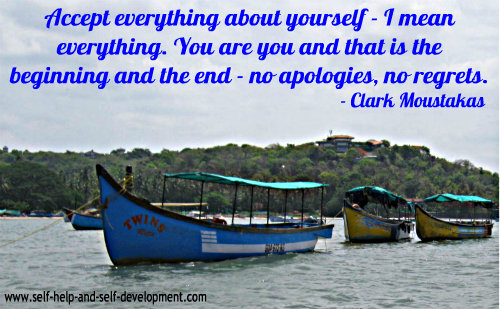 Self Esteem Quote: Accept everything about yourself....