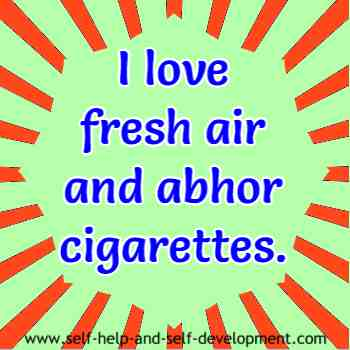 Self talk for loving fresh air and detesting cigarettes.