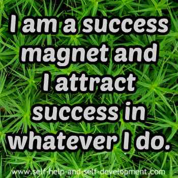Self talk for being a success magnet and attracting success.