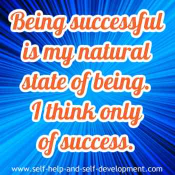 Self talk for being successful naturally.