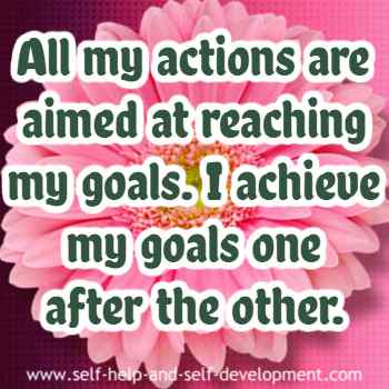 Self talk for conducting actions to achieve goals.