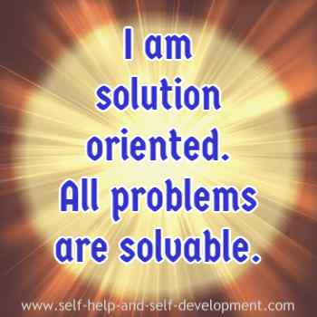 Self talk for becoming solution oriented.