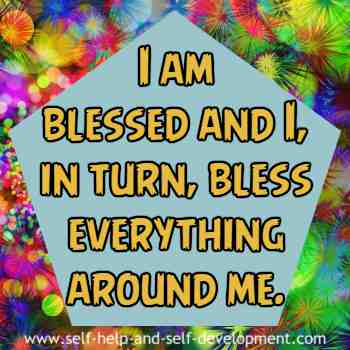 Self talk for being blessed and for blessing every thing.
