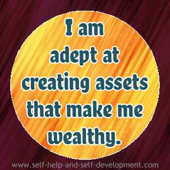 Self talk for asset creation leading to wealth.