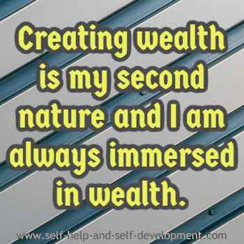 Self talk for wealth creation and maintenance of wealth.