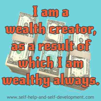 Self talk for being a wealth creator and for always possessing wealth.