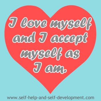 Self talk for self acceptance.