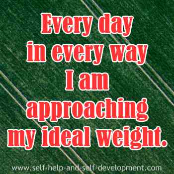 Inspiration for approaching ideal weight.