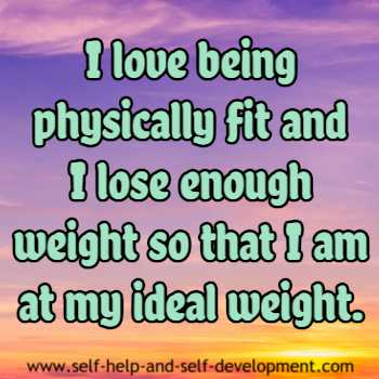 Inspiration for physical fitness and ideal weight.