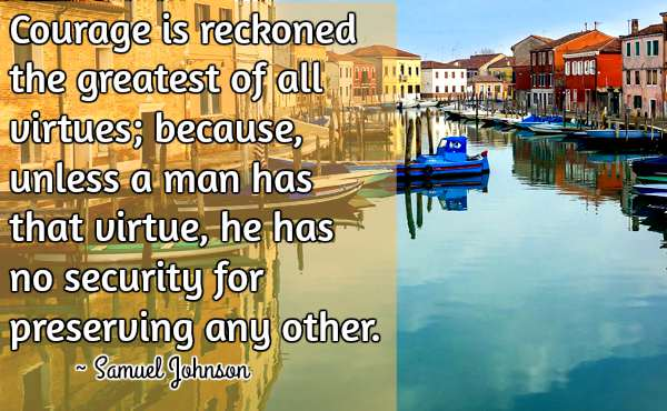 Quotation by Samuel Johnson.