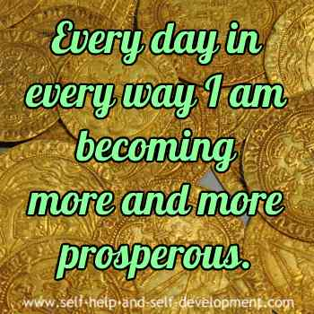 Self talk for daily prosperity.