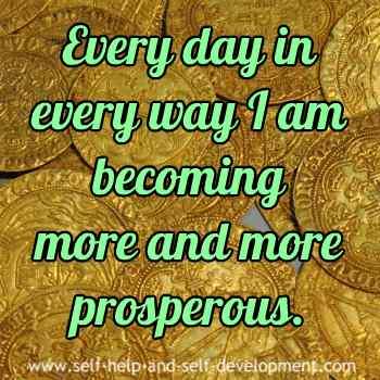 Self talk for daily prosperity.