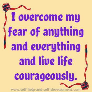 Inspiration for overcoming fear.