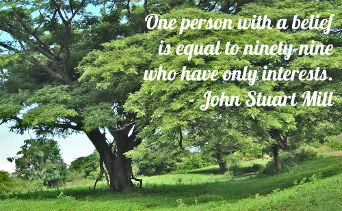 A belief quote by John Stuart Mill.