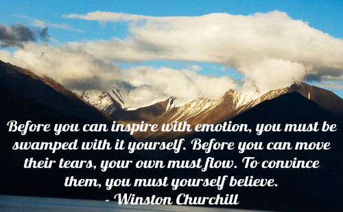 A belief quote by Winston Churchill.