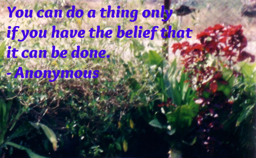 A beautiful belief quote.