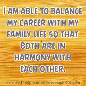 Self-talk for balancing family life and career.