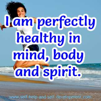 Self-talk for being healthy in mind, body and spirit.