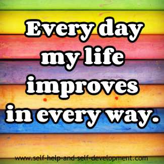 Self-talk for daily improvement of life.