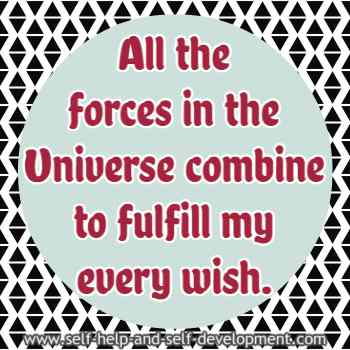 Self-talk for the Universe fulfilling my every wish.