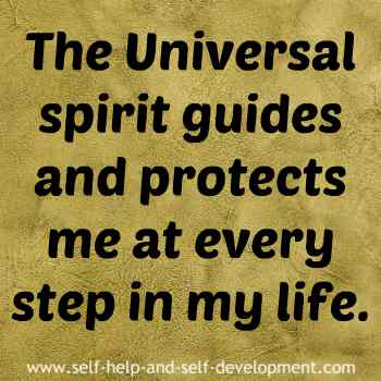 Self-talk for the Universal spirit guiding and protecting me.