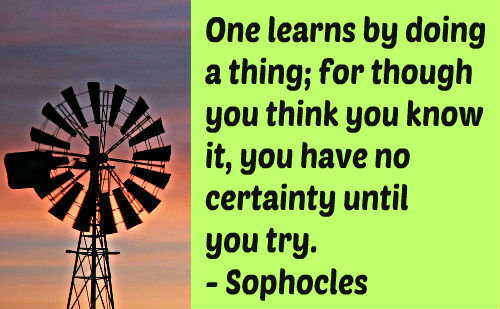 An education quote by Sophocles.