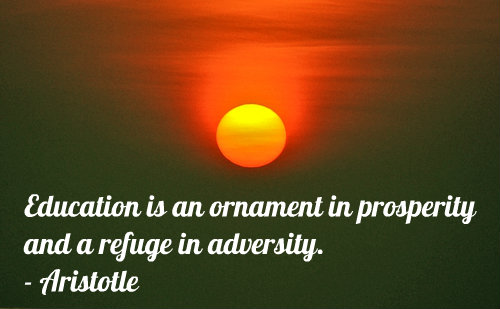 An education quote by Aristotle.