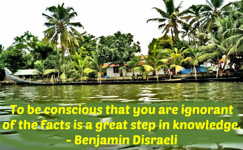 A knowledge quote by Benjamin Disraeli.