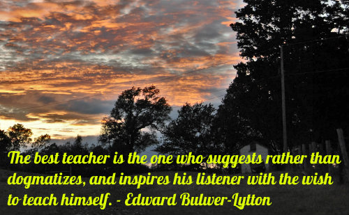 An education quote by Edward Bulwer-Lytton.
