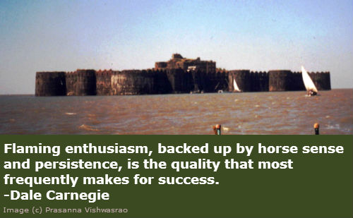 Flaming enthusiasm, backed up by horse sense and persistence, is the quality that most frequently makes for success. - Dale Carnegie.