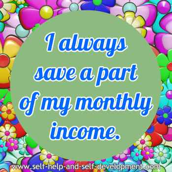 Self talk for saving money every month.