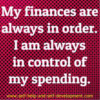 Self talk for regulating personal finances.