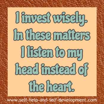 Self talk for investing wisely using brains instead of emotions.