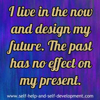 Self talk for living in the present.