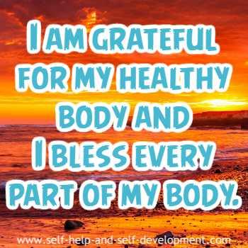 Gratitude for a healthy body.