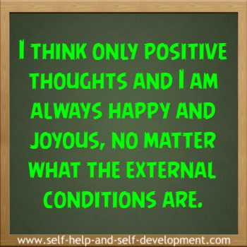 Self-talk for thinking positively and always being happy and joyous.