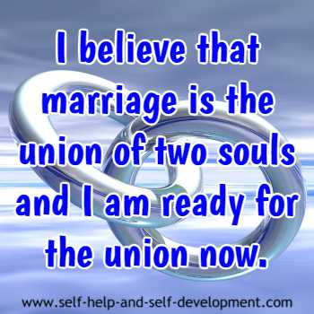 An inspiration for readiness of a union of two souls.