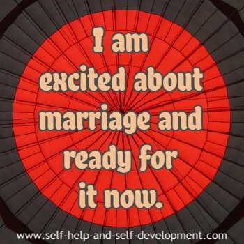 Self-talk for getting ready for marriage.