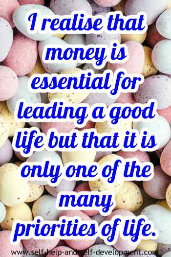 Inspiration for importance of money.