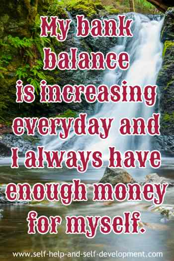 Inspiration for daily increase of bank balance.