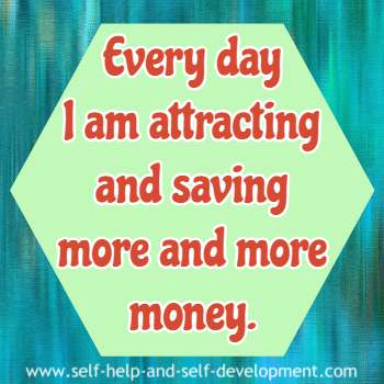 Self talk for attracting and saving money daily.