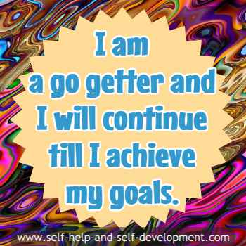 Self talk for being a go getter and achieving your goals.