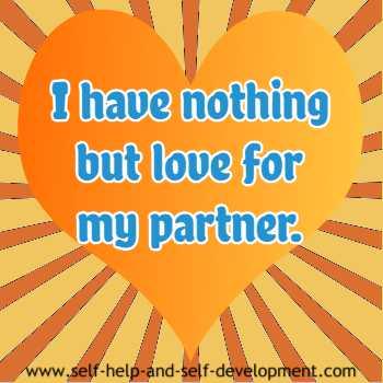 Self talk for loving your partner.