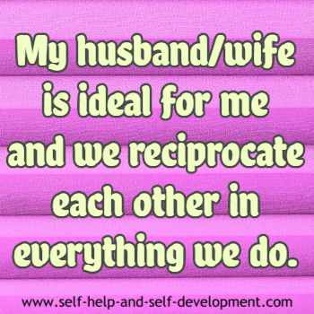 Self talk for an ideal spouse.
