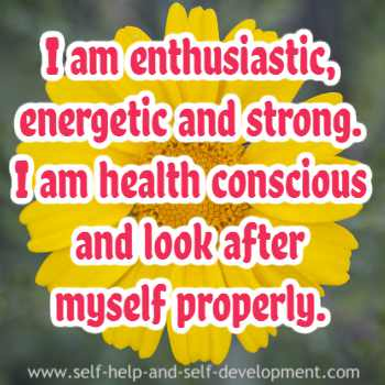 Inspiration for being enthusiastic, energetic, strong and health conscious.