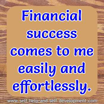 Self talk for easy and effortless financial success.